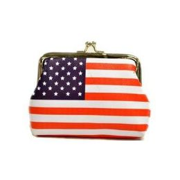 48 of Usa Flag Clasp Coin Purse