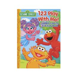 48 of Sesame Street 123 Play With Me Jumbo Coloring & Activity Book