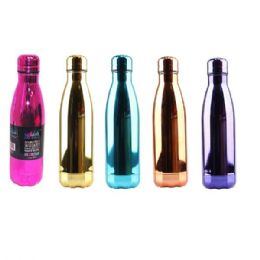 24 of Stainless Steel Double Walled Chrome Edition Water Bottle Cup