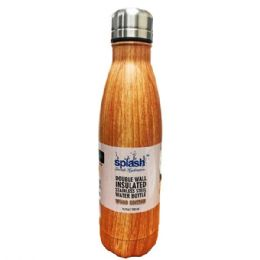 24 of Stainless Steel Double Walled Wood Edition Water Bottle Cup