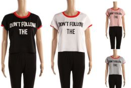 48 of Womens Tee Dont Follow The Print Assorted Colors