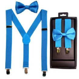 12 of Kids Suspenders And Bowtie Set In Light Blue