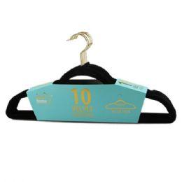 24 of 10 Pack Black Velvet Hanger