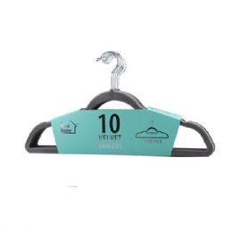 24 of 10 Pack Grey Velvet Hanger