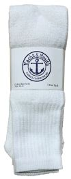24 of Yacht & Smith Men's White Cotton Terry Tube Socks,30 Inch Long Athletic Tube Socks, Size 10-13