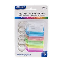 72 of Bazic Key Tags With Holder & Label Window (6/pack)
