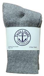 60 of Yacht & Smith Kids Premium Cotton Crew Socks Gray Size 4-6