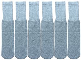 1200 of Yacht & Smith Men's Cotton 28 Inch Tube Socks, Referee Style, Size 10-13 Solid Gray