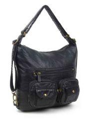 12 of Convertible Crossbody Backpack - Black