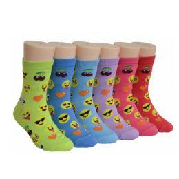 480 of Girls Emoji Crew Socks