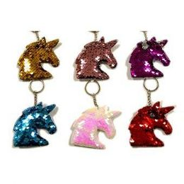 48 of Reversible Sequins Unicorn Keychain