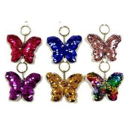 48 of Reversible Sequins Butterfly Keychain