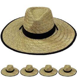 24 of Wide Brim Bamboo Straw Lightweight Man Sun Hat