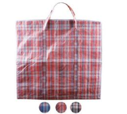 96 of XX-Large Plaid Woven Zipper Bag
