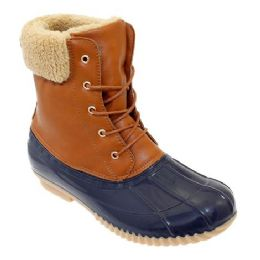 12 of Womens Duck Boot In Tan Navy