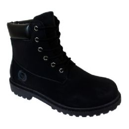 12 of Mens Lace Up Work Boot In Black