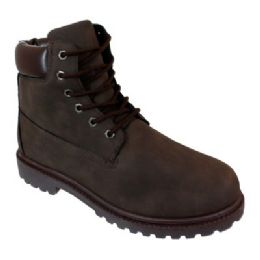 12 of Mens Lace Up Work Boot In Brown