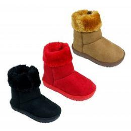18 of Girls Fur Cuff Boots