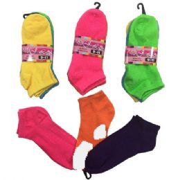 36 of Womens Neon Colored Ankle Socks