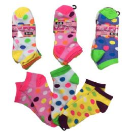 36 of Ladies Teens Anklets Polka Dots Size 9-11