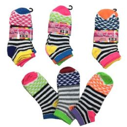 36 of Three Pair Ladies Teens Anklets Stripes Triangles