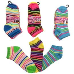 36 of Three Pair Ladies Teens Anklets Thin Stripes