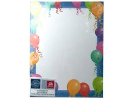72 of Balloon Border Stationery 25 Sheets