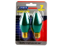 144 of 2 Pack Dark Green 7 Watt Long Life Night Light Bulbs