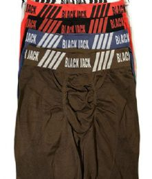120 of Men's Black Jack Seamless Long Leg Boxer Brief