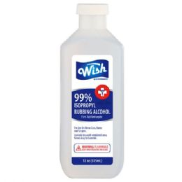 48 of Wish 12 Oz 99% Rubbing Alcohol
