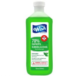 240 of Wish 12 Oz 70% Winter Green Rubbing Alcohol Shipped By Pallet