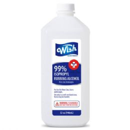 12 of Wish 32 Oz 99% Rubbing Alcohol Shipped By Pallet