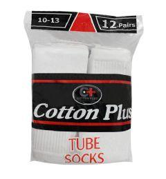 144 of Yacht & Smith 31 Inch Men's Long Tube Socks, White Cotton Tube Socks Size 10-13