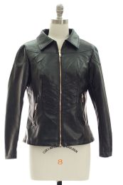 12 of Faux Leather Collar Jacket Black