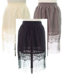 18 of Plus Plus Lace Shell Knee Length Skirt Assorted