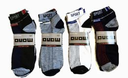 60 of Mens Light Weight Ankle Socks, Printed Performance Athletic Socks Size 10-13