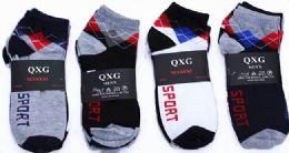 60 of Mens Light Weight Ankle Socks, Printed Performance Athletic Socks Size 10-13 Argyle Printed Socks