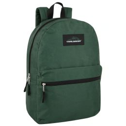 24 of Trailmaker Classic 17 Inch Backpack Solid Green