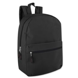 24 of 17 Inch Solid Backpack In Black