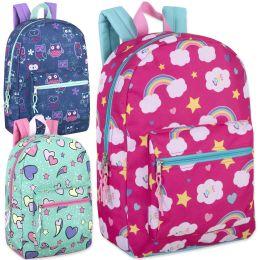 24 of 17 Inch Printed Backpacks - Girls Assortment