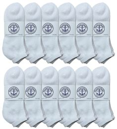 60 of Yacht & Smith Men's King Size No Show Ankle Socks . Size 13-16 White BULK PACK