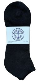 60 of Yacht & Smith Men's King Size No Show Ankle Socks Size 13-16 Black BULK PACK