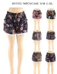 24 of Women Fashion Assorted Printed Shorts