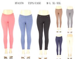 24 of Womens Fashion Solid Color Assorted Pants