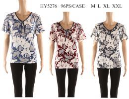 48 of Womens Printed Floral Tee Shirt