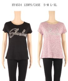 24 of Womens Summer Studded Tee