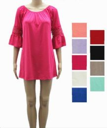 24 of Womens Short Summer Solid Color Dress In Assorted Color
