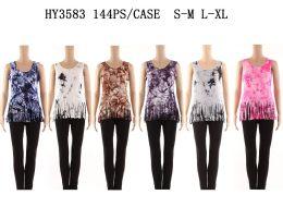24 of Womens Summer Tye Dye Shirt With Fringes