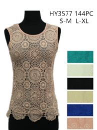 24 of Womens Summer Lace Top Assorted Colors