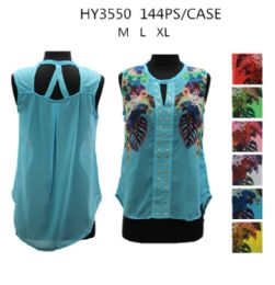 36 of Womens Fashion Summer Printed Top Assorted Colors